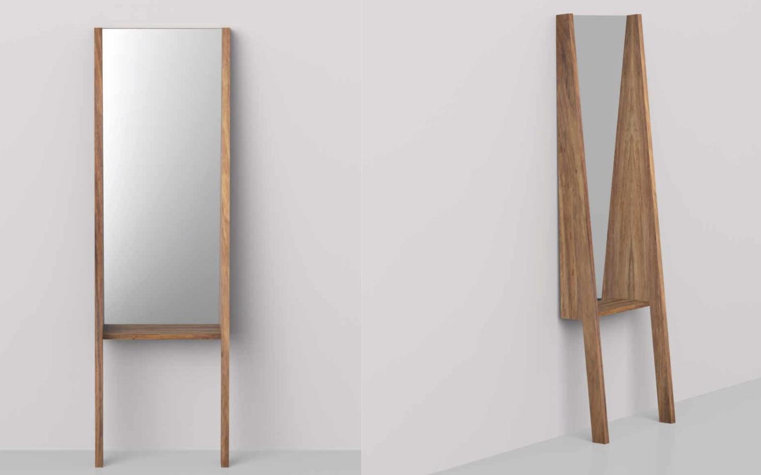 Floor standing mirror target