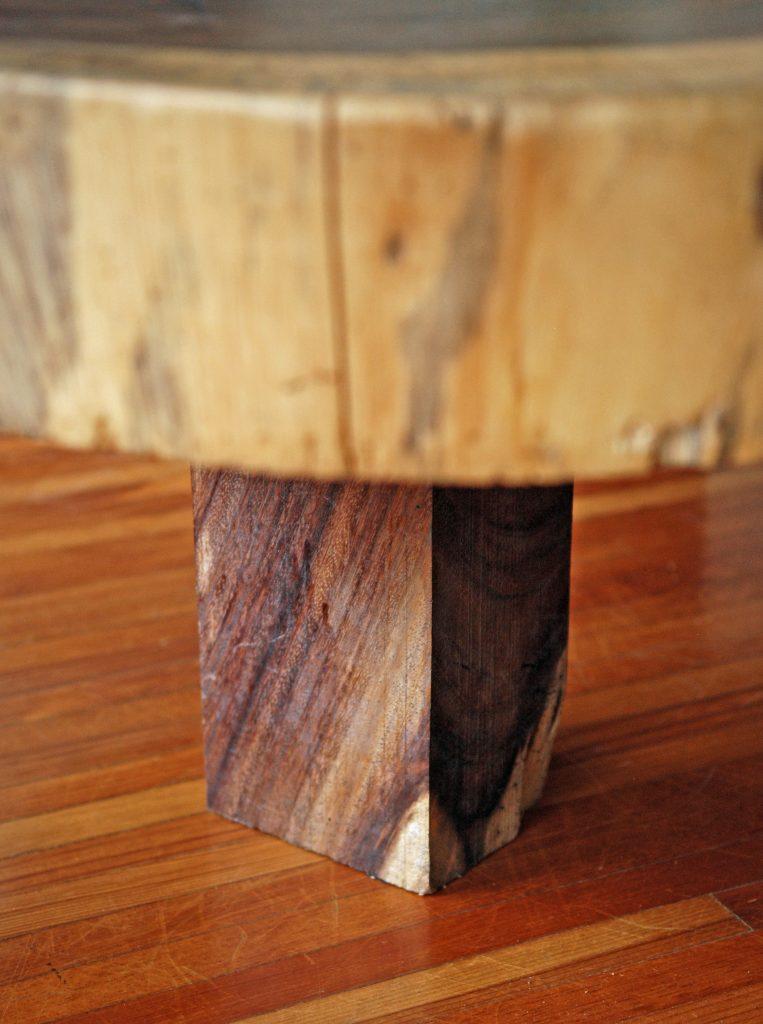 Mesas centro y lateral de madera parota finos for Mesa de centro madera maciza