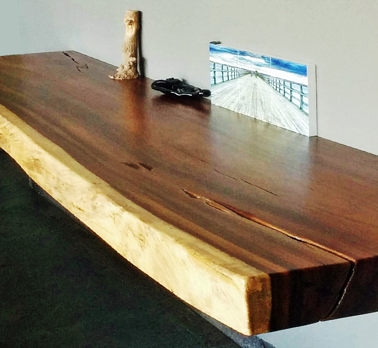Parota Wood Console Side Tables Custom Modern Design Mexico - Long wooden side table