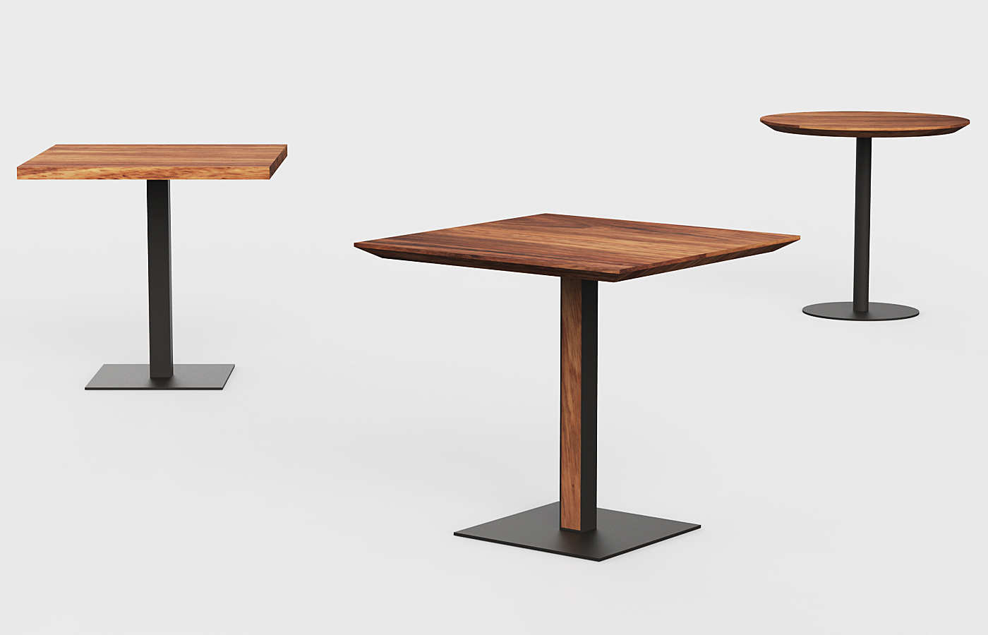 Modern Wooden Bar Tables | Custom | Made in Mexico