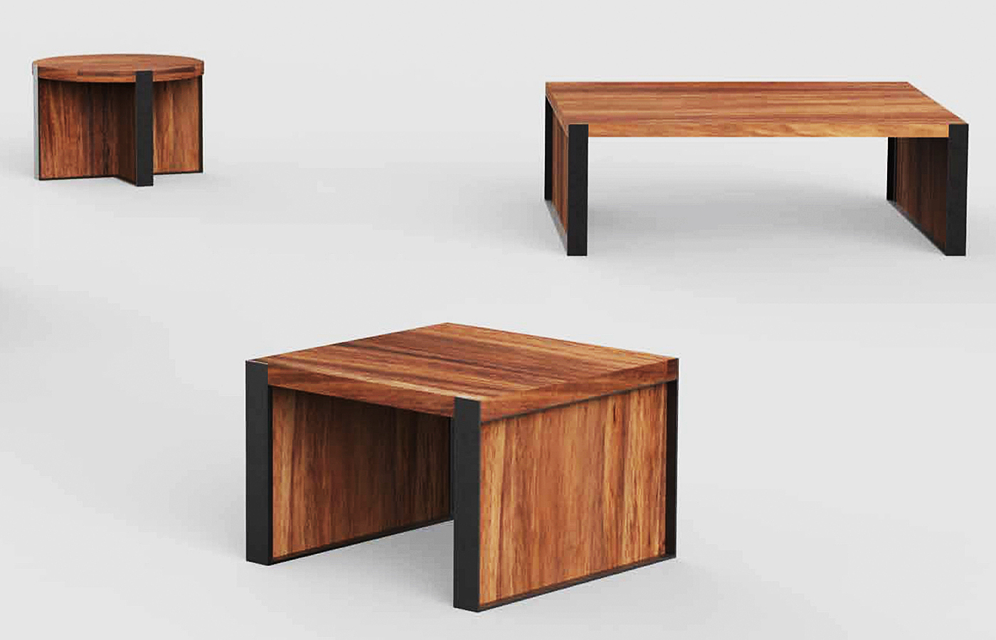 Metal Wood Coffee Tables