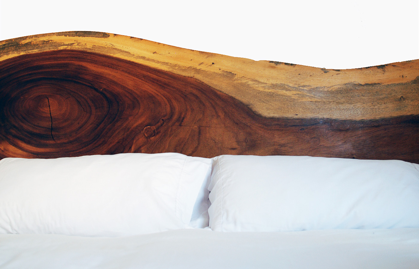 Solid Wood Headboard with Parota