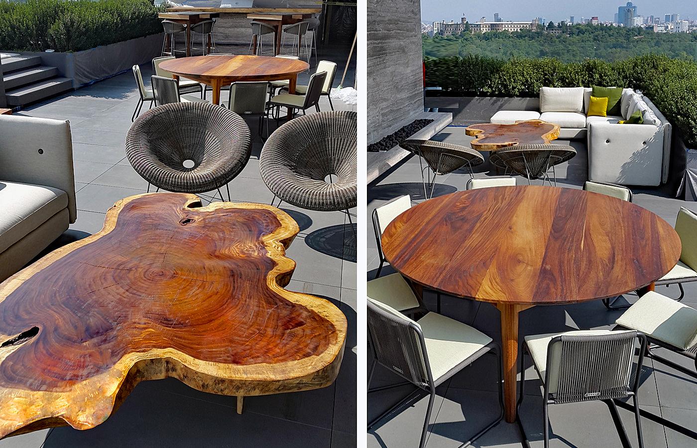 Muebles de exterior de madera parota finos y artesanales - Muebles de resina para exterior ...