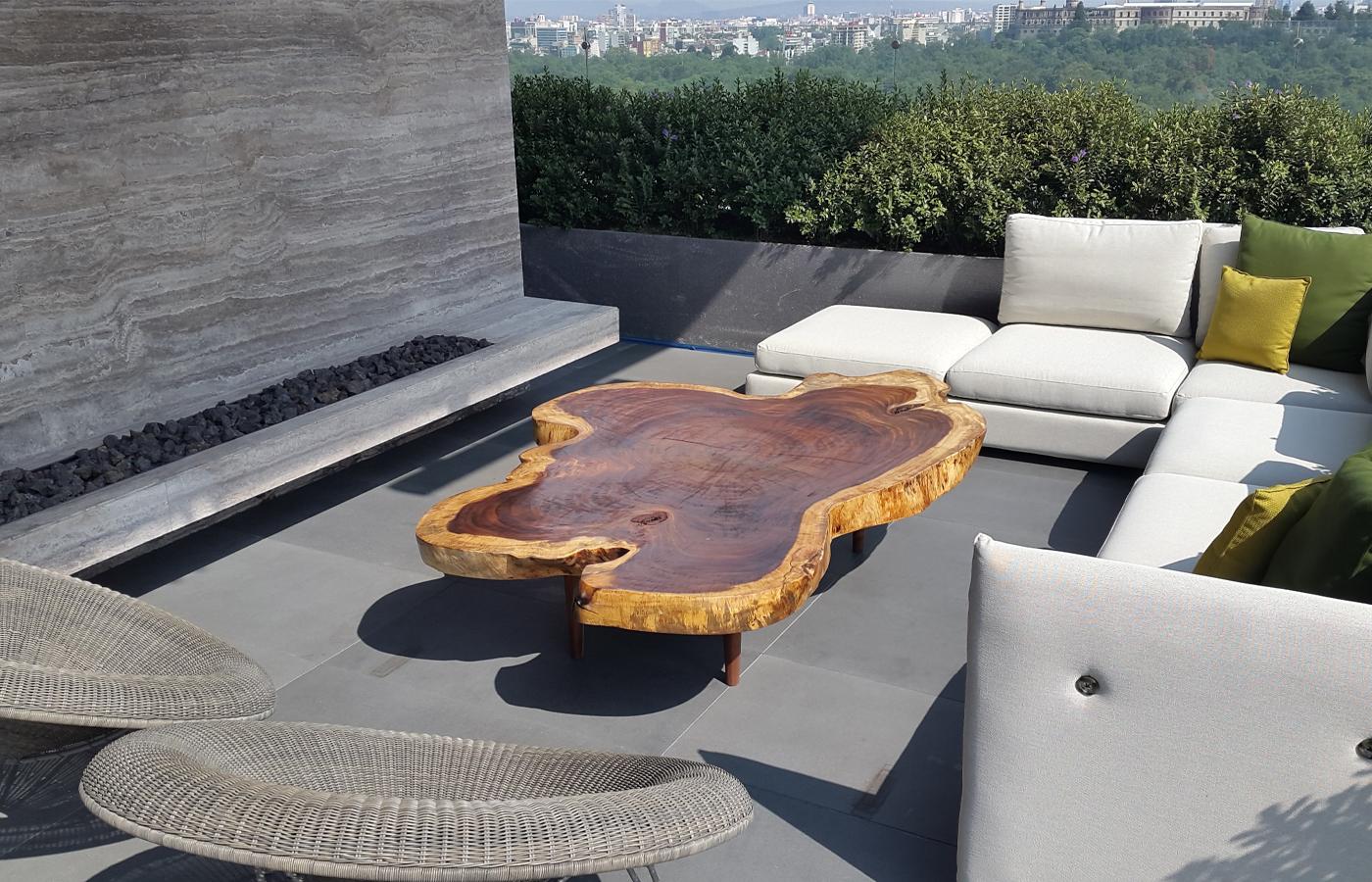 Muebles de exterior de madera parota finos y artesanales for Ofertas muebles de terraza