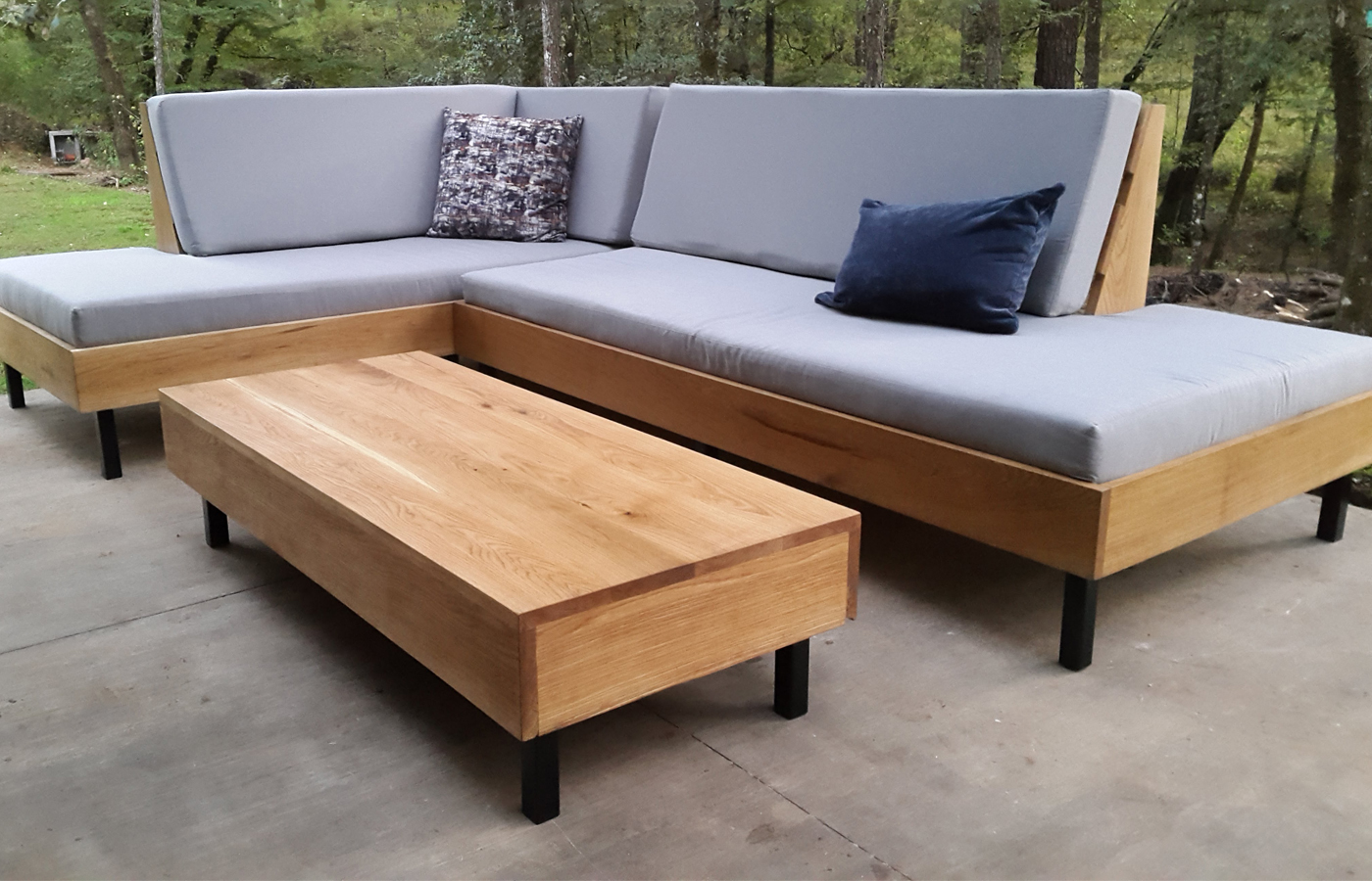 Modern Custom Wood Coffee Table