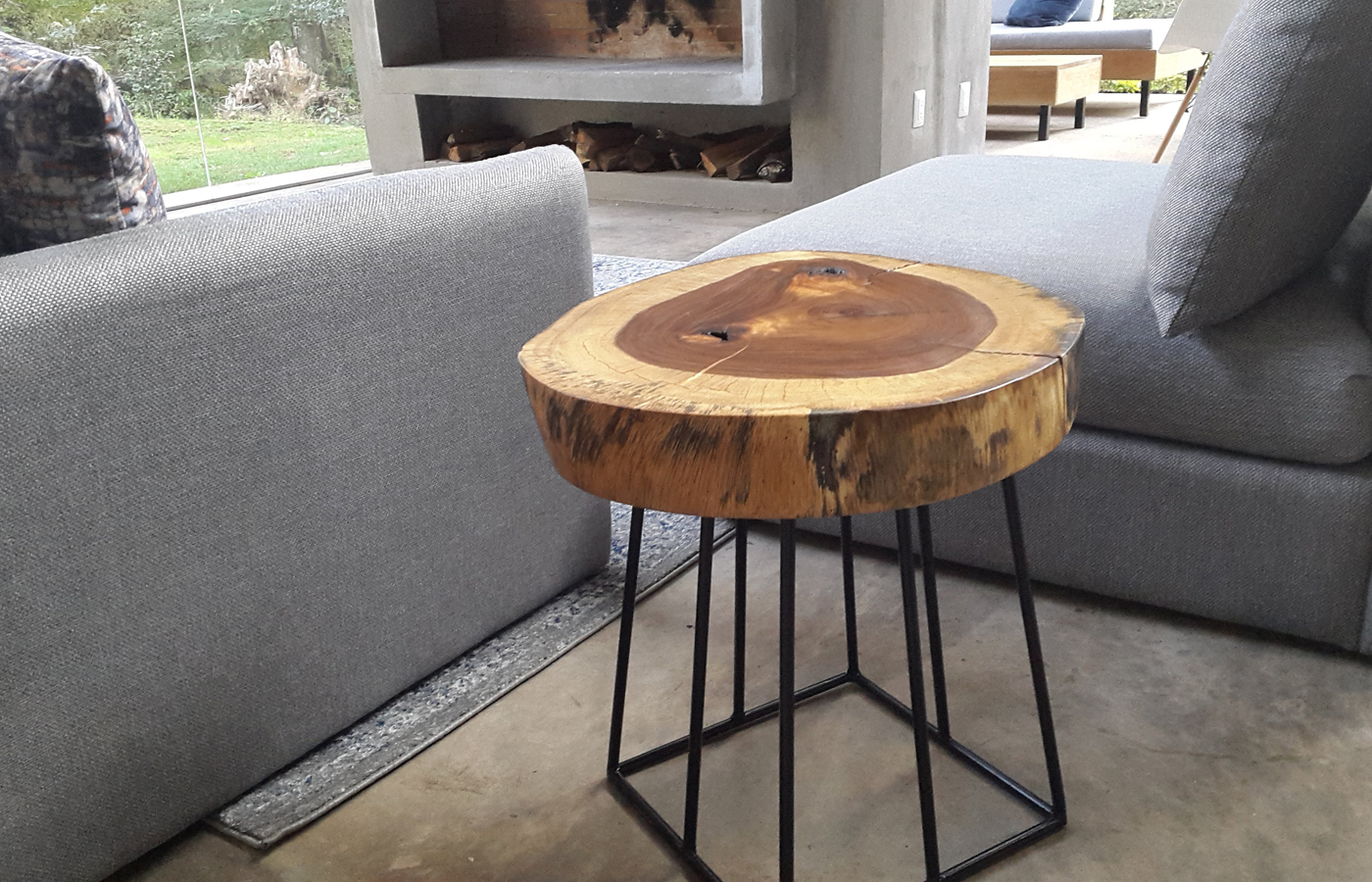 Custom Wood Side Table