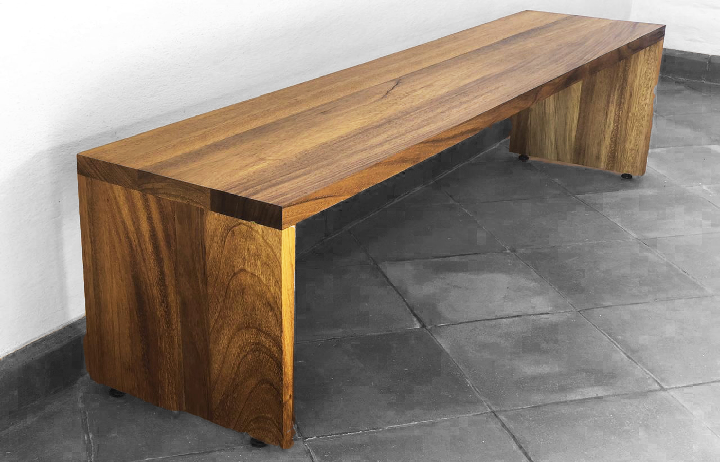 Contemporary Modern Wood Bench