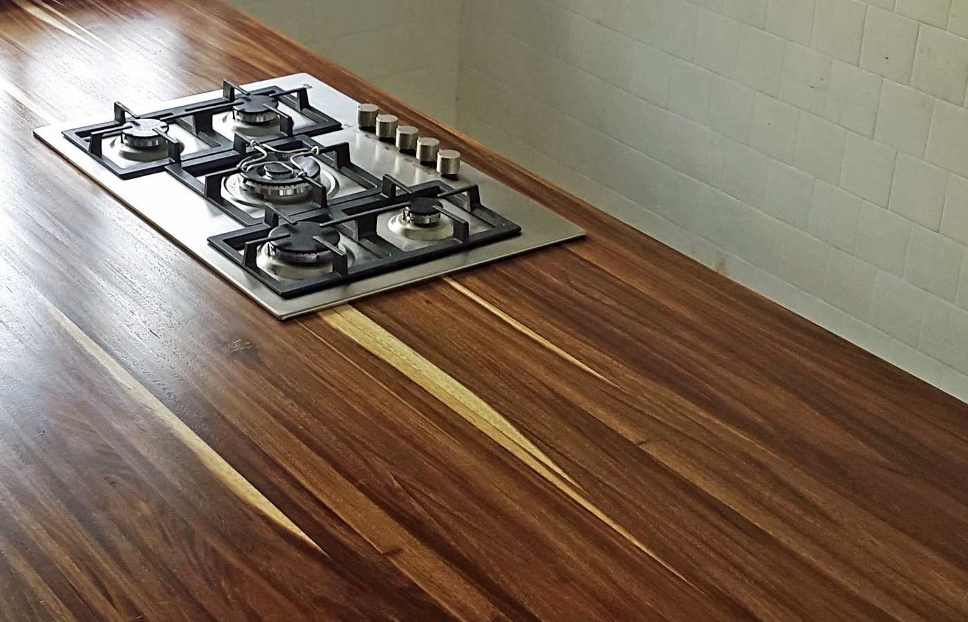 Custom Parota Wood Slab Countertops Mexico