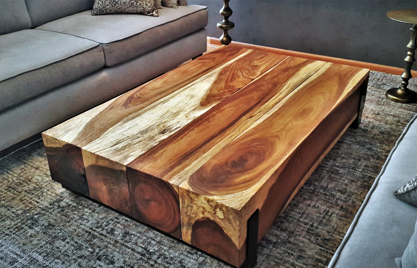 Unique Mexican Wood Coffee Table