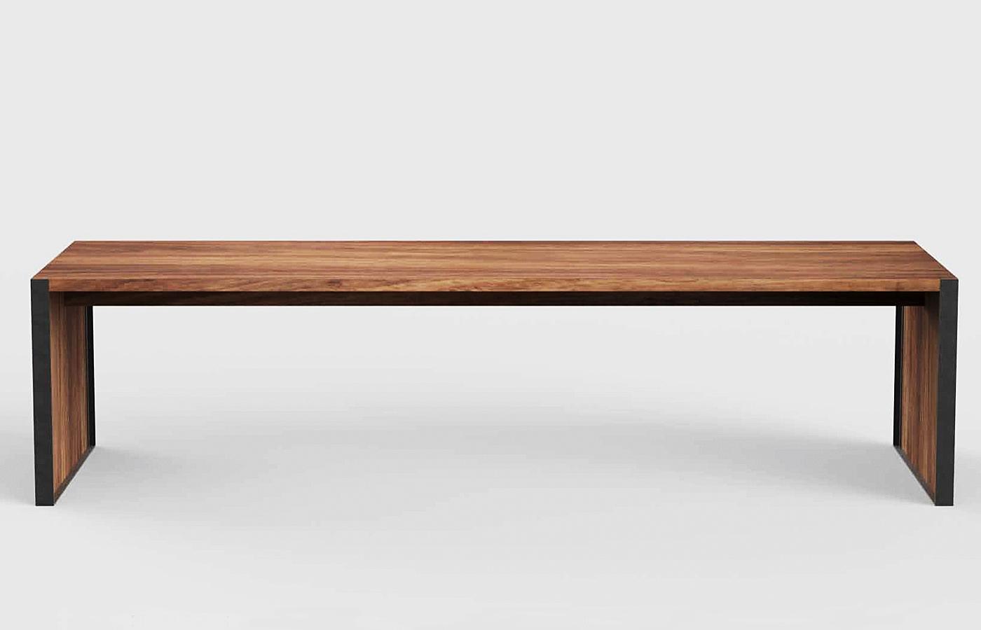 Parota Wooden Benches Custom Modern Design Mexico