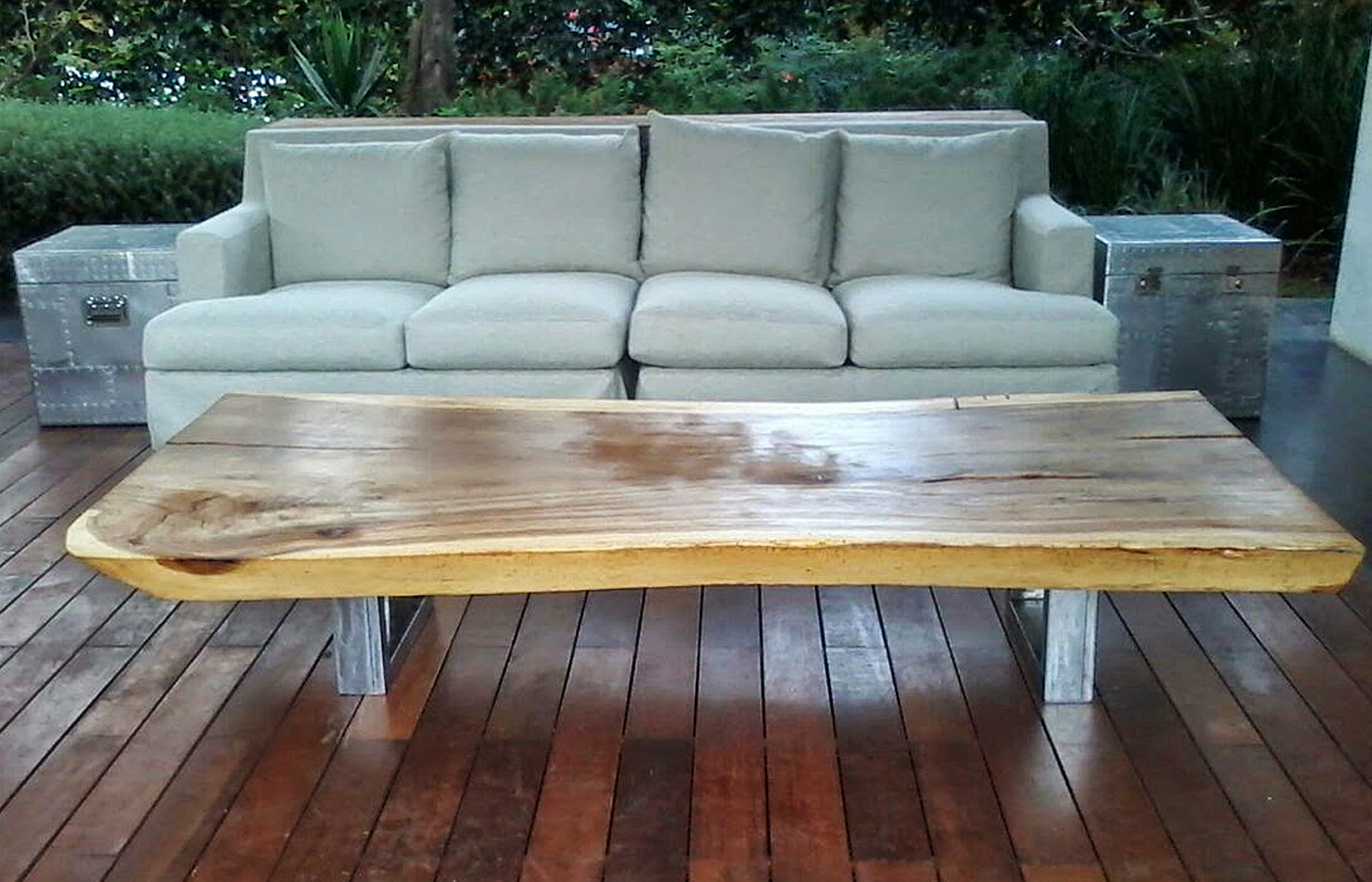 Muebles de exterior de madera parota finos y artesanales - Muebles para terrazas exteriores ...