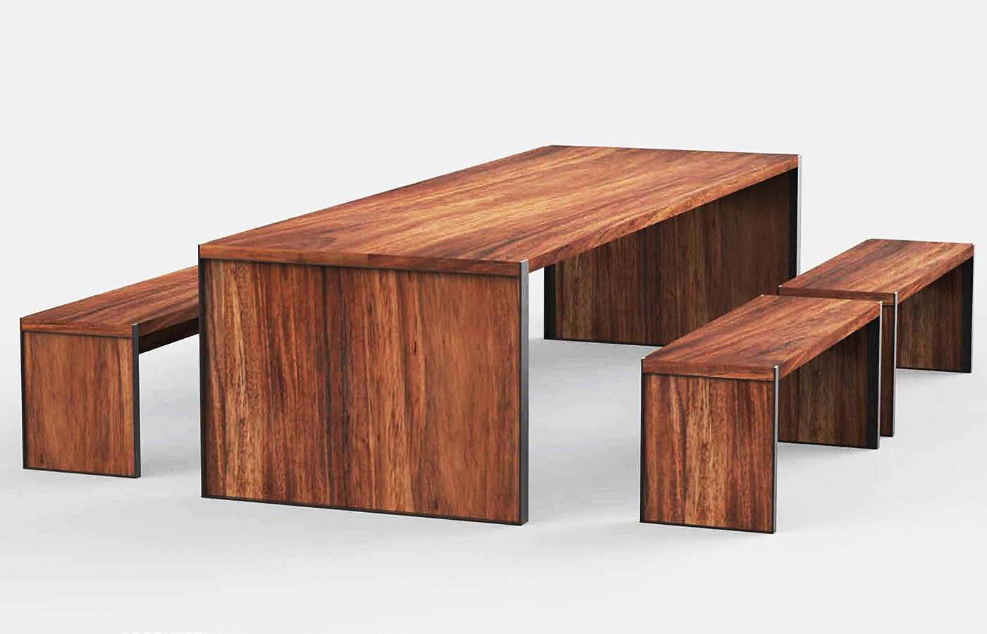 Muebles de exterior de madera parota finos y artesanales for Muebles exterior diseno moderno